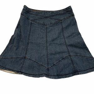 ANTHRO Jean skirt, Gidra, fit n flare, size 10
